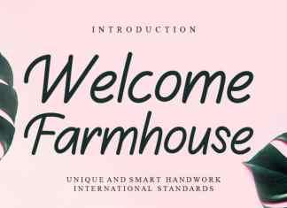 Welcome Farmhouse Handwritten Font