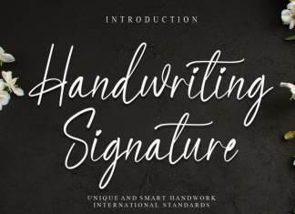 Handwriting Signature Script Font