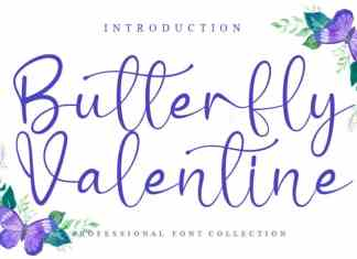 Butterfly Valentine Calligraphy Font