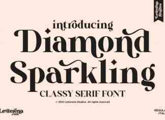 Diamond Sparkling Serif Font