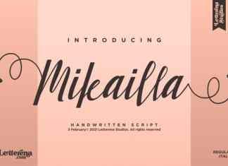 Mikailla Calligraphy Font