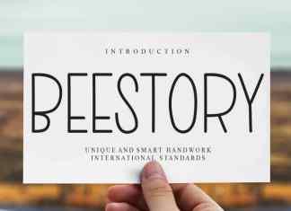 Beestory Display Font