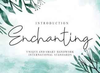 Enchanting Handwritten Font