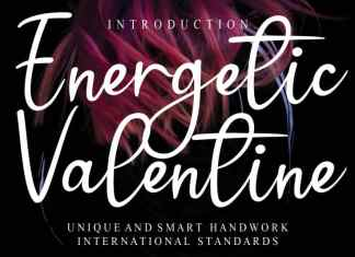 Energetic Valentine Script Font