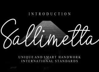 Sallimetta Script Font