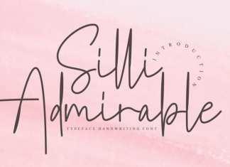 Silli Admirable Handwritten Font