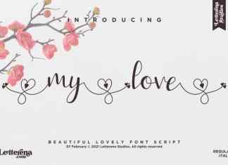 My Love Calligraphy Font