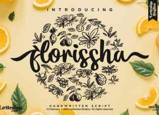 Florissha Script Font