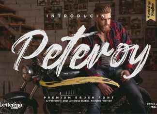 Peteroy Brush Font
