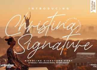 Christina Signature Script Font