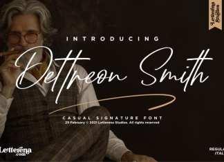 Dettreon Smith Script Font
