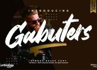 Gabuters Brush Font
