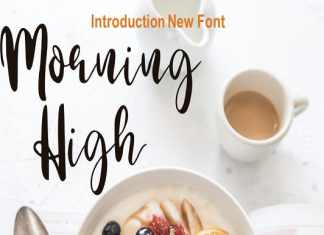 Morning High Script Font