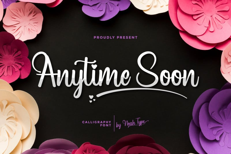 Anytime Soon Script Font