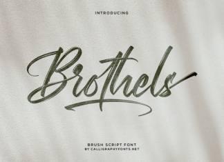 Brothels Brush Font