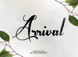 Arrival Calligraphy Font