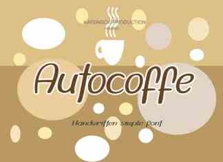 Autocoffe Display Font