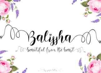 Balissha Calligraphy Font