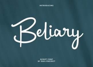 Beliary Script Font