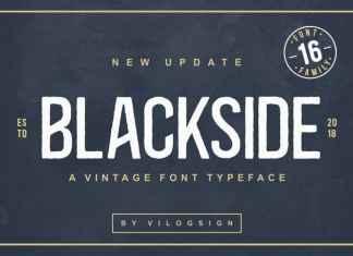 Blackside Display Font