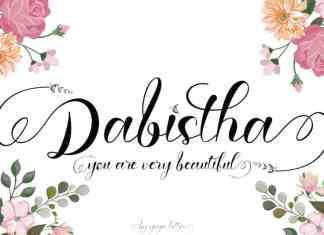 Dabistha Calligraphy Font