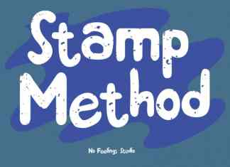 Stamp Method Display Font
