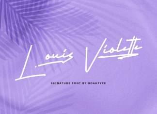 Louis Violette Handwritten Font