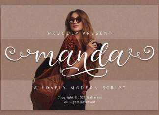 Manda - Modern Script Font