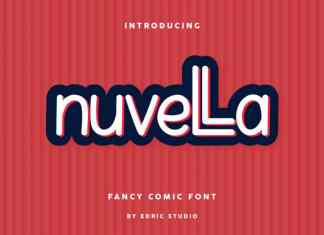 Nuvella Display Font