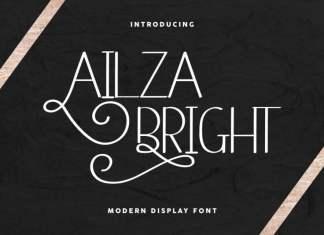 Ailza Bright Display Font