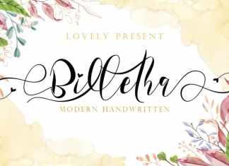 Billetha Calligraphy Font