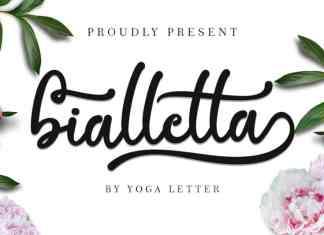 Bialletta Calligraphy Font