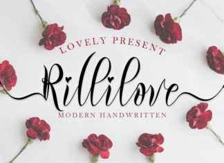 Rillilove Calligraphy Font
