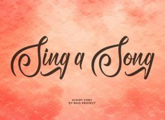 Sing A Song Script Font