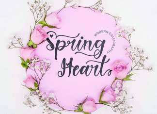 Spring Heart Calligraphy Font