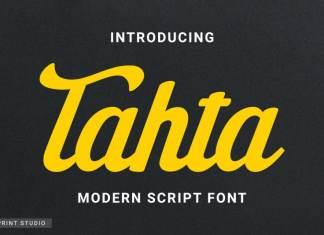 Tahta Bold Script Font