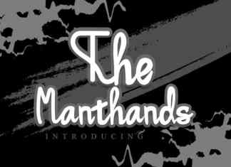 The Manthands Script Font