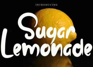 Sugar Lemonade Script Font