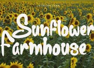 Sunflower Farmhouse Display Font