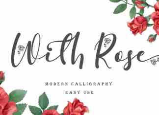 With Rose Script Font