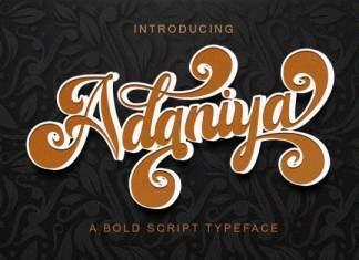 Adaniya Bold Script Font