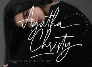 Agatha Christy Script Font