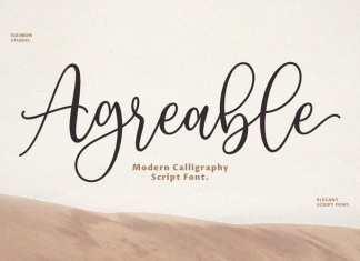 Agreable Script Font