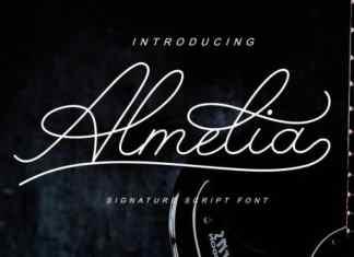 Almelia Handwritten Font