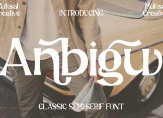 Anbigu Serif Font