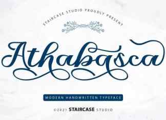 Athabasca Calligraphy Font