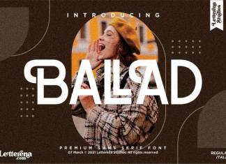 Ballad Sans Serif Font