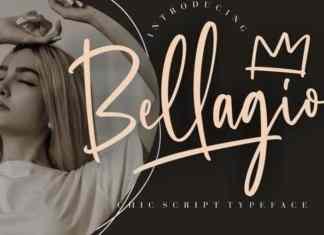 Bellagio Brush Font