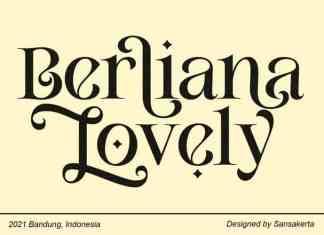 Berliana Lovely Serif Font