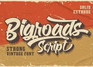 Bigroads Bold Script Font